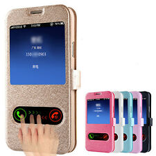 Hot Thin Window Leather Flip Case Cover Skin for Samsung Galaxy S5 G900 i9600