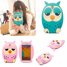 3D Stylish Cute Lovely Cartoon Animal Owl Soft Silicon Back Case For Cell Phones