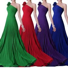 Floral Long Maxi Ball Gown Bridesmaid Wedding Evening Formal Prom Pageant Dress