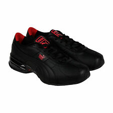 Puma Cell Turin Perf Mens Black Leather & Synthetic Athletic Running Shoes