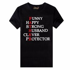 Funny Strong Happy Dads Gift T Shirt Humor Tee Fathers Day Daddy Gift Mens shirt