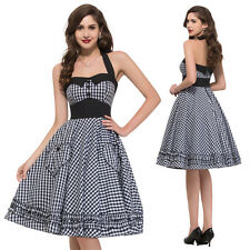 Charm~ Vintage Style 50s 60s Swing Jive Rockabilly Pin Up Housewife Party Dress