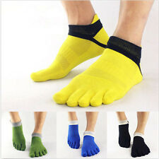 hot new Mens Cotton Toe Socks Pure Sports Five Finger Socks Breathable 1 pairs