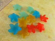 4 Sea Glass 20mm Starfish Top Drilled Pendant Beads You Pick Color