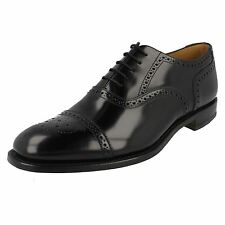 Mens Loake Formal Toe Cap Leather Shoes Fitting F - 201B