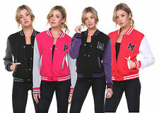 Womens New Varsity Baseball Jacket S S M L XL 2XL Letterman College Quality