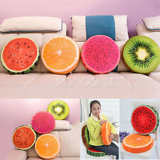 Soft Home Office Round Fruit Pillow Plush Dining Cushion Chair Seat Buttocks Pad