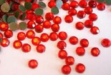 144 Hot Fix Iron On Color Rhinestones/1 gross *FREE US SHIP* SS30 6mm-Siam Red