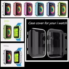 Thin TPU Protective Case Cover For Apple Watch 38mm iWatch 42mm Screen Guard UK