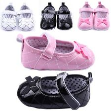 Baby Girl Infant Toddler Mary Jane Soft Sole Antislip Prewalker Crib Shoes 0-12M