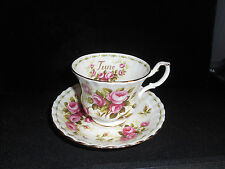 Royal Albert Flower of the Month June Pink Roses Tea Cup & Saucer