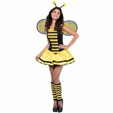 Busy Bumble Bee Ladies Fancy Dress Costume Party Outfit Halloween Dress Wings
