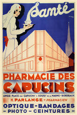 Pharmacy Prescription Medicine Pharmacists French Vintage Poster Repro FREE S/H