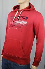 Polo Ralph Lauren Red Weathered Cotton Hoodie Pullover Sweatshirt NWT