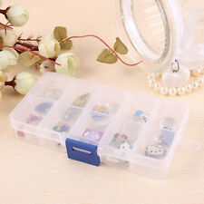 Portable Clear 10/15/24 Slot Jewelry Rings Display Box Jewelry Storage Box Case