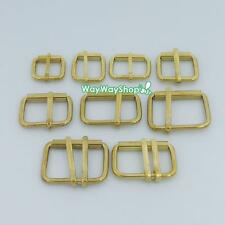 Solid Brass Buckles Single or Double Prong Roller 16mm 20mm 40mm 4 Belt Strap ka