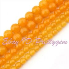 4mm 6mm 8mm 10mm Faceted Round Yellow Jade Gemstone Jewelry Fashion Beads 15""