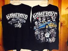 Black Homeboys in the party low rider chicano  t-shirt.