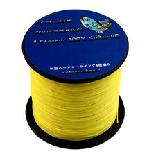 Yellow 4PLYS/8PLYS 100M-1000M 6-300LB Super Strong Spectra Braid Fishing Line