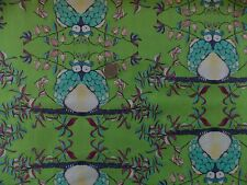 Tina Givens Opal Owl Quilt Fabric OOP  100% Cotton Sewing Crafts