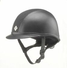 Charles Owen Ayr8 Leather Look Riding Helmet NAVY or BLACK sizes 52cm to 62cm