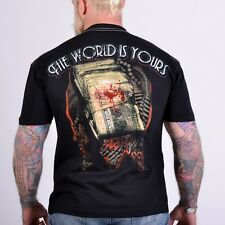 T-SHIRT OMERTA THE WORLD IS YOURS ! MAFIA - GUN - DRUGS - $$$$