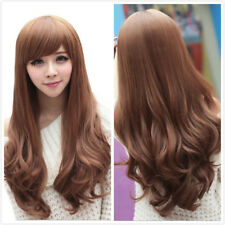 Fashion Cosplay Women Wig Long Curly Wavy Wigs Full Wigs Party Costume Wigs