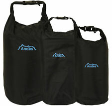 Andes Black Waterproof Kayak Dry Bag Sack Canoeing Camping Sailing Fishing