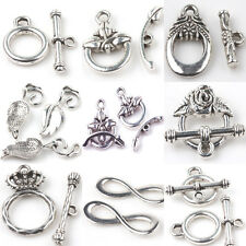 Lots 2/5/10Sets Tibet Silver Hook Clasps Connectors DIY Jewelry Finding
