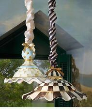 MacKenzie Childs Courtly Stripe or Parchment Check Cord Cover for Lighting