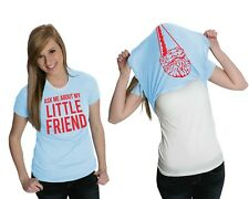 Women's Ask Me About My Little Friend T Shirt Funny Gnome Ladies Flip Tee