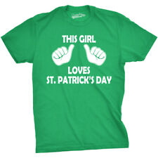 Kids This Girl Loves St Patricks Day T-shirt Funny Youth St Pattys Tee