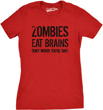 Womens Zombies Eat Brains Shirt Funny Zombie T shirts Living Dead Zombie Outbrea