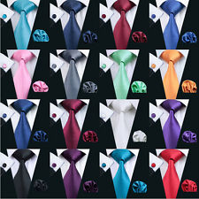 22Color Solid Classic 100% Silk Jacquard Woven Wholesale Necktie Men's Tie Set
