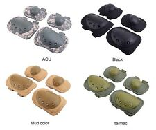 7 Colors Adjustable Airsoft Tactical Knee & Elbow Protective Pads Set Knee Pads