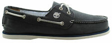 Timberland Classic 2I Mens Boat Shoe Navy Blue Jean Lace Slip On (6634R D121)
