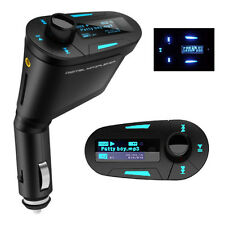 LCD Car kit MP3 Player Wireless FM Transmitter Modulator With USB SD Slot Blue