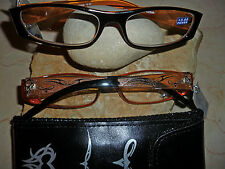 Wenn Lesebrille..dann I NEED YOU - TATTOO 2 - schwarz-orange -  +3,0