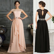 Gorgeous Formal Chiffon Bridesmaids Wedding Prom Evening Gown Long Dresses Plus+