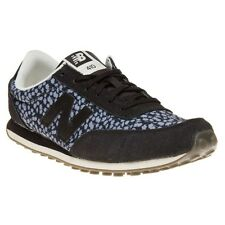 New Womens New Balance Black Grey 410 Suede Trainers Animal Lace Up