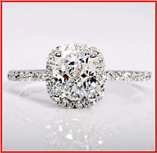 USA TOP GRADE CUSHION RADIANT CUT NSCD SONA SIMULATED DIAMOND RING 50% SALE
