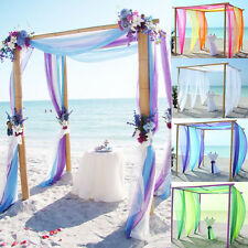 28 Colors Sheer Organza Fabric Beach Wedding Ceremony Bouquet Arch Decoration