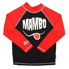 NEW MAMBO BOYS LONG SLEEVE SWIM RASH TOP SIZE 1  SPF 50+