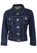 New ex NEW LOOK Blue Denim Cropped Ladies Jacket  with 3/4 sleeves. BNWOT