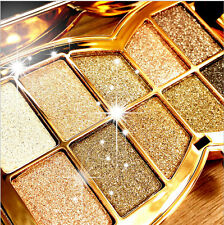 New 10 Colors Professional Diamond Eyeshadow Palette & Cosmetic Brush Makeup Set