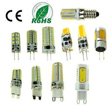 Dimmable G9 G4 E14 LED COB SMD Bulbs Light Lamp Capsule Silicone Crystal White