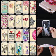 Beauty Colorful Clear Soft TPU Bumper PC Back Case Cover for iPhone 5 5S 6 6Plus