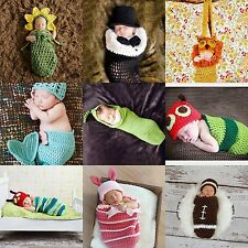 Newborn Baby Cocoon Sleeping Bag Crochet Photo Prop Photography Knitted Costume