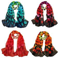 Women Chiffon Scarf Stunning Soft Gradient Color Shawl Pashmina Wrap Polka Dot