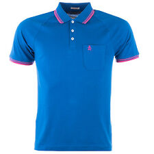 Mens Original Penguin 55 Polo Shirt In Classic Blue From Get The Label